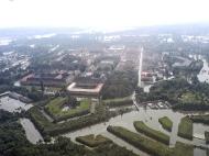 Letecký pohled na Terezín