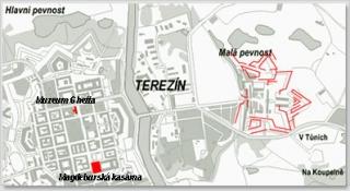 Mapa Terezín
