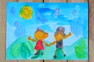 1. kategorie - 5. místo - Tereza Fialová, 6 let -  ZŠ a MŠ Chrášťany - Máme se dobře