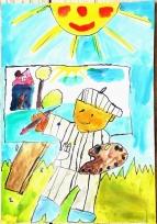 Malujeme lepší zítřek - Simon Gašpárek (6 let, ZŠ a MŠ Chrášťany), 1. kategorie – 1. místo
