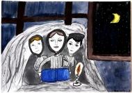 7. místo: Viktorie Beránková, 12 let, ZŠ Slovácká Břeclav, název: Čtení pod dekou